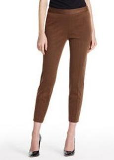 Herringbone Side Zip Pant in Ponte (Plus)