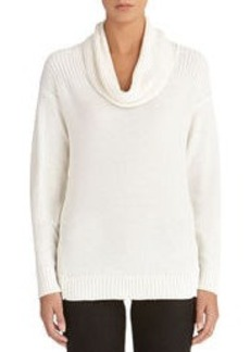 High Low Cowl Neck Sweater