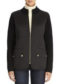 Jacket with Quilted Front