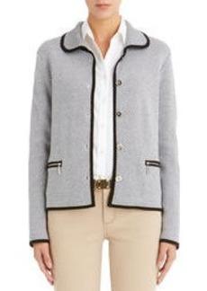 Jacquard Stitched Cropped Jacket
