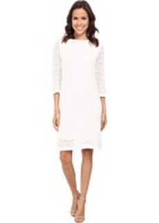 Jones New York 3/4 Sleeve Boat Neck Dress