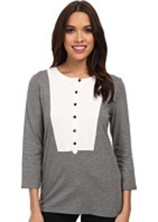 Jones New York 3/4 Sleeve Split Neck Tunic