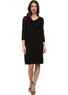Jones New York 3/4 Sleeve V-Neck Dress