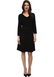 Jones New York 3/4 Sleeve V-Neck Sweater Dress w/ Belt