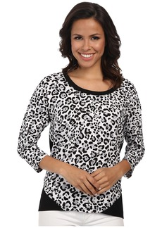 Jones New York Animal Print Bottom Wrap Top
