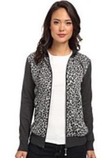 Jones New York Animal Print Mock Neck Jacket