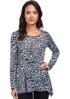 Jones New York Animal Print Scoop Neck Easy Pullover