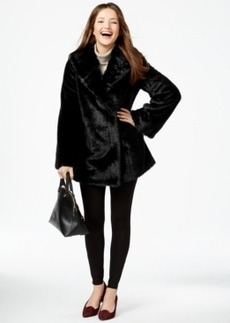Jones New York Asymmetrical Faux-Fur Coat