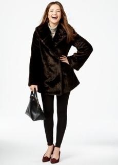 Jones New York Asymmetrical Faux-Fur Coat