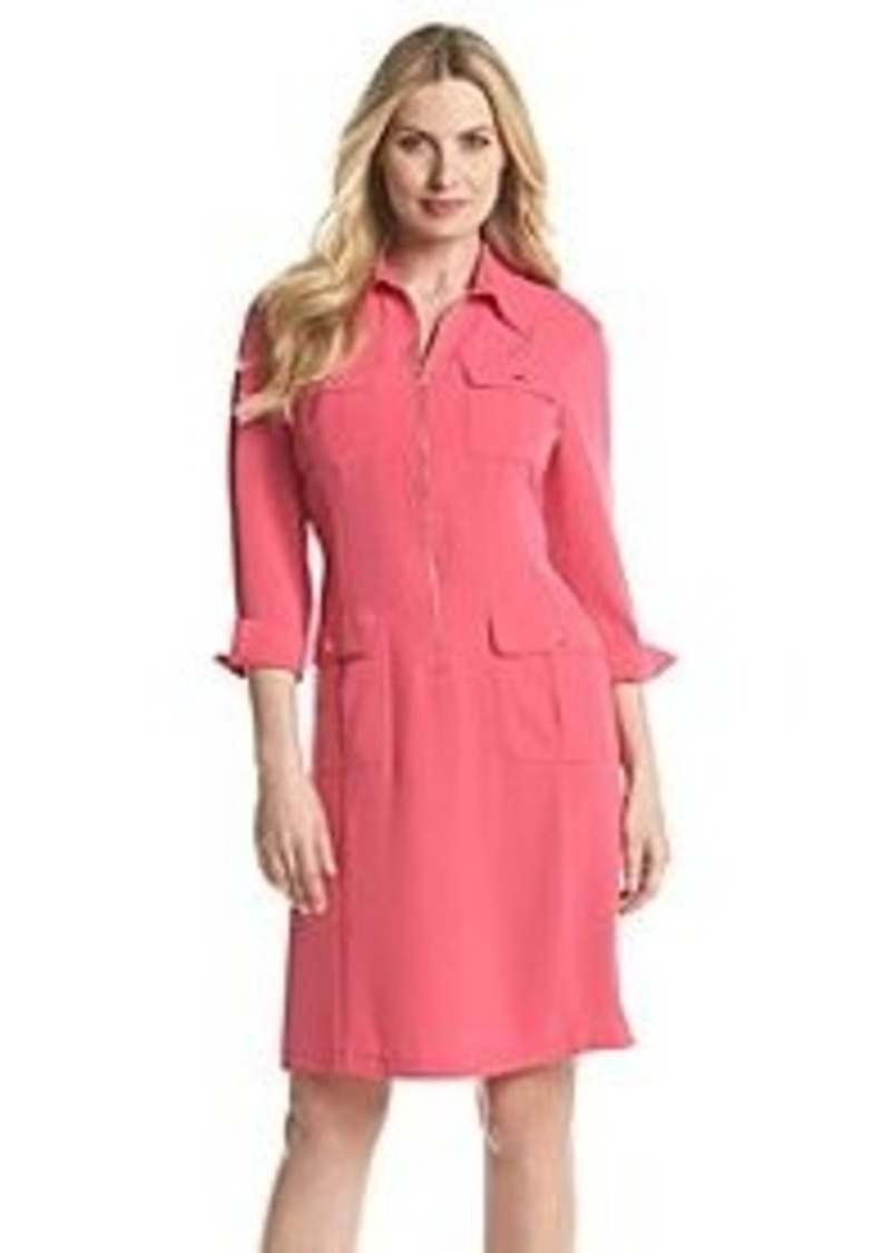 Jones new york jones new york azalea zip front shirt for New york and company dress shirts