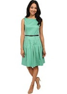 Jones New York Boat Neck Fit & Flare Dress