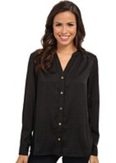 Jones New York Button-Down Blouse with Shoulder Yoke