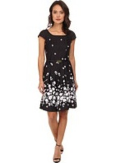 Jones New York Cap Sleeve Dress w/ Pleats