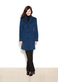 Jones New York Checked Textured Walker Coat