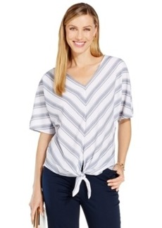 Jones New York Chevron-Striped Top