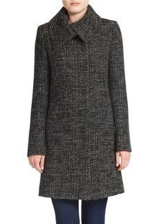 JONES NEW YORK Chunky Tweed Wool-Blend Coat