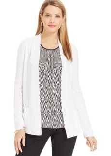 Jones New York Collection 2-Pocket Open-Front Cardigan