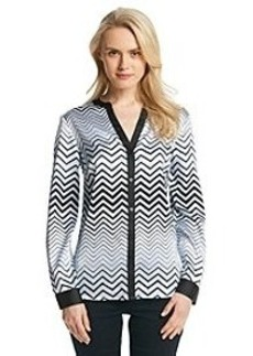 Jones New York Collection® Chevron Button Up Blouse