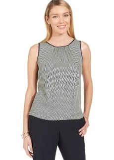 Jones New York Collection Chevron-Stripe Shell Top