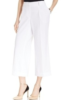 Jones New York Collection Cropped Wide-Leg Cuffed Pants