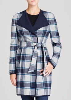 Jones New York Collection Double Face Check Coat