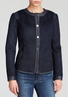 Jones New York Collection Faux Shearling Jacket