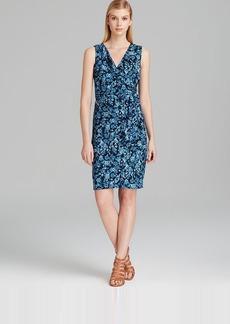 Jones New York Collection Faux Wrap Sheath Dress