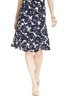 Jones New York Collection Flared A-Line Floral Skirt