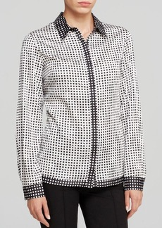 Jones New York Collection Geometric Print Blouse