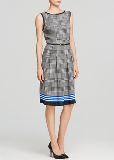 Jones New York Collection Houndstooth Plaid Dress