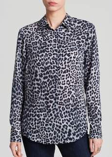 Jones New York Collection Leopard Print Blouse