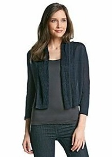 Jones New York Collection® Linen Open Cardigan