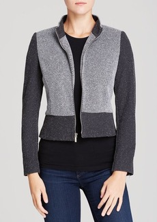 Jones New York Collection Mixed Knit Jacket