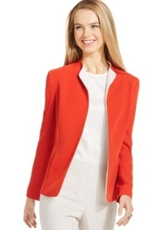 Jones New York Collection Petite Colorblocked Soft Open-Front Jacket