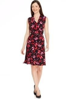Jones New York Collection Petite Sleeveless Butterfly Wrap Dress