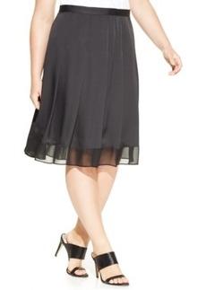Jones New York Collection Plus Size Chiffon-Hem A-Line Skirt