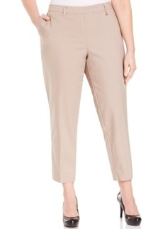 Jones New York Collection Plus Size Cropped Straight-Leg Pants