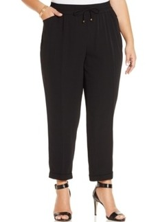 Jones New York Collection Plus Size Cuffed Drawstring Soft Pants