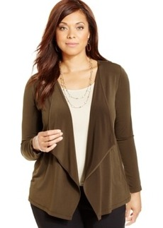 Jones New York Collection Plus Size Draped Cardigan