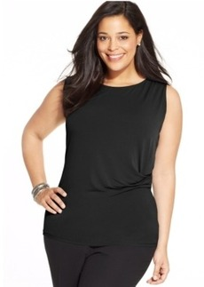 Jones New York Collection Plus Size Draped Shell