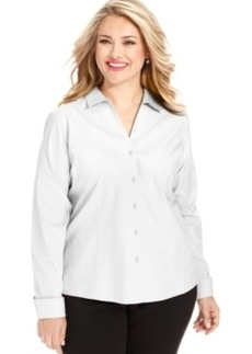 Jones New York Collection Plus Size Easy Care Long-Sleeve Shirt