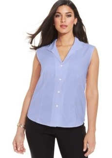 Jones New York Collection Plus Size Easy Care Sleeveless Shirt