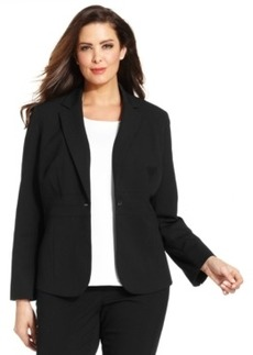 Jones New York Collection Plus Size Emma One-Button Blazer