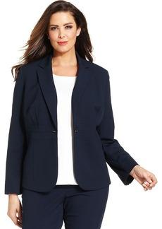 Jones New York Collection Plus Size Emma One-Button Blazer
