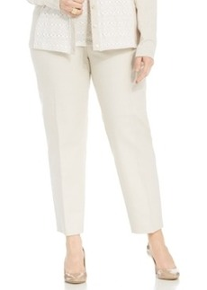 Jones New York Collection Plus Size Grace Slim-Leg Pants