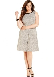 Jones New York Collection Plus Size Knit A-Line Dress