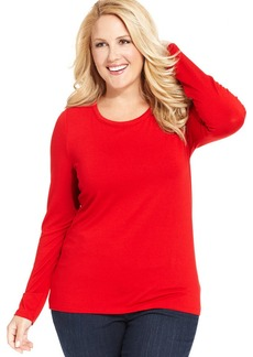 Jones New York Collection Plus Size Long-Sleeve Knit Top