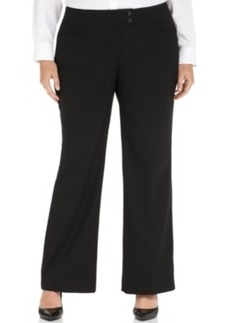 Jones New York Collection Plus Size Marilyn Curvy Straight-Leg Trousers
