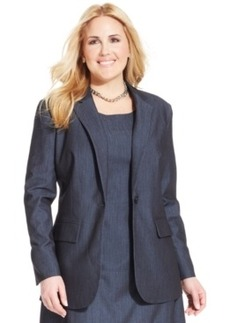 Jones New York Collection Plus Size One-Button Blazer