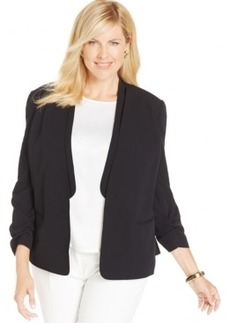 Jones New York Collection Plus Size Open-Front Blazer